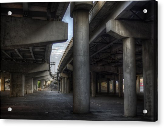 Acrylic Print featuring the photograph Under The Overpass I by Break The Silhouette