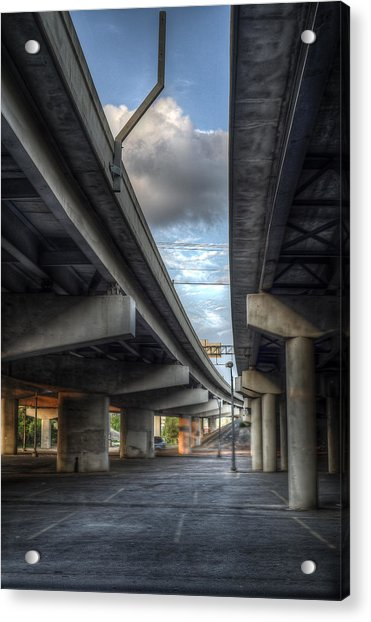 Acrylic Print featuring the photograph Under The Overpass II by Break The Silhouette