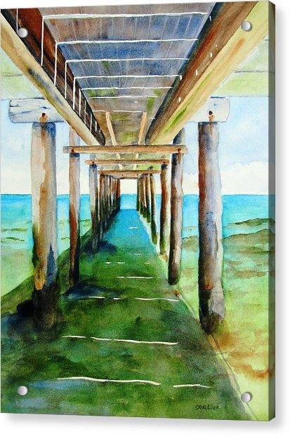 Under The Playa Paraiso Pier Acrylic Print