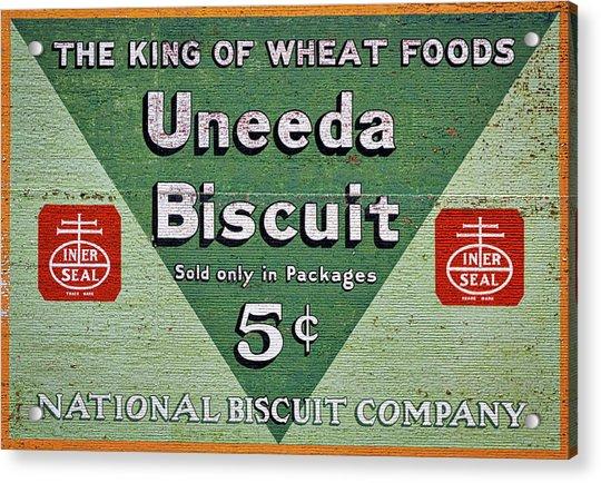 Uneeda Biscuit Vintage Sign Acrylic Print