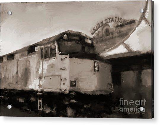 Acrylic Print featuring the digital art Union Station Train by Dwayne Glapion