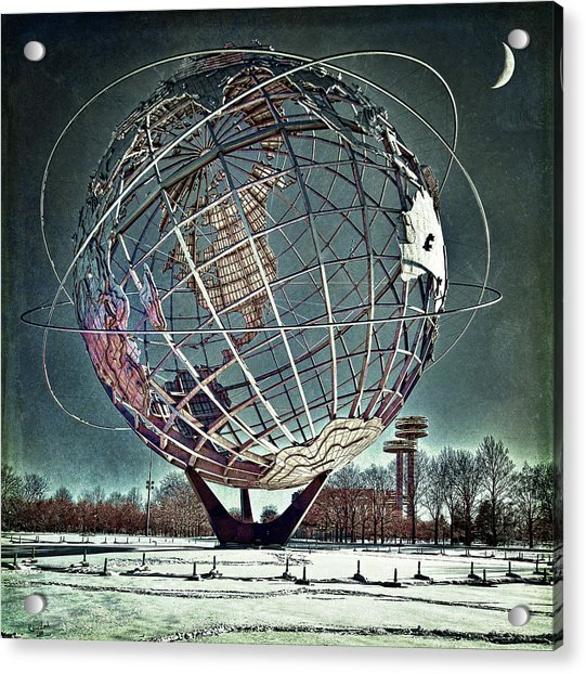 Acrylic Print featuring the photograph Unisphere by Chris Lord