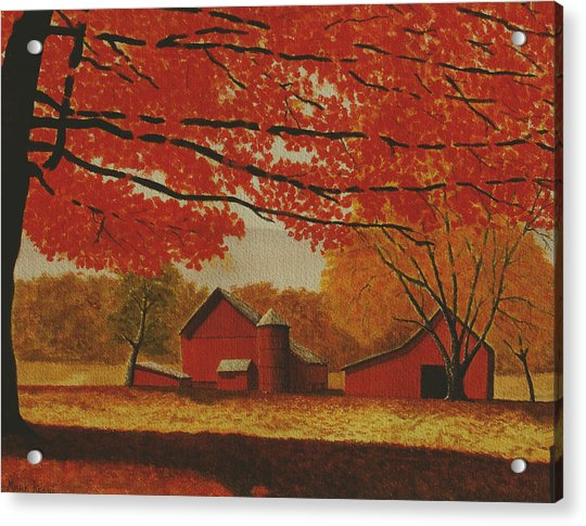 Upstate Autumn Acrylic Print by Mark Regni