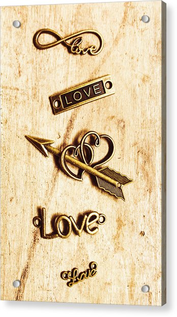Valentine Pendants Acrylic Print