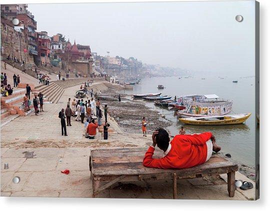 Varanasi Ghat View, Varanasi, India Acrylic Print