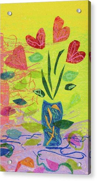 Vase Full Of Love Acrylic Print