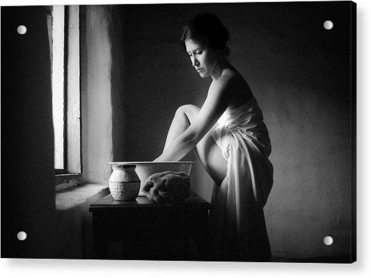 Vermeer Footwasher Acrylic Print