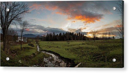 Vermont Sunset Acrylic Print