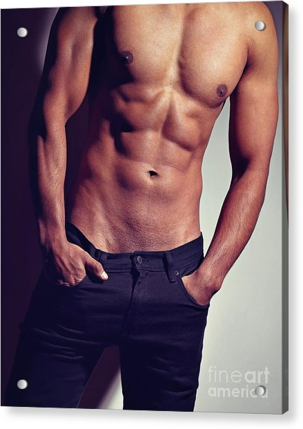 Very Sexy Man With Great Body Acrylic Print