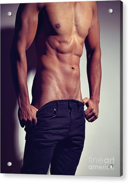 Very Sexy Man With Great Muscular Body Acrylic Print