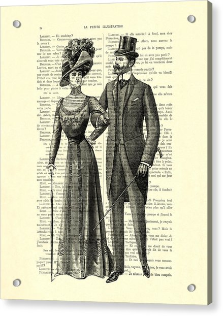 Victorian Couple Acrylic Print
