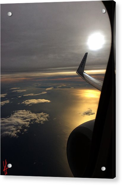 Acrylic Print featuring the photograph View From Plane  by Colette V Hera Guggenheim