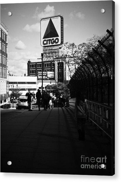 View Of Citgo Sign From David Ortiz Bridge, Boston, Massachusetts Acrylic Print
