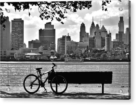 View Of Philadelphia  Acrylic Print