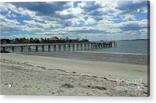 View Of Pier. Fisherman's Beach, Swampscott, Ma Acrylic Print