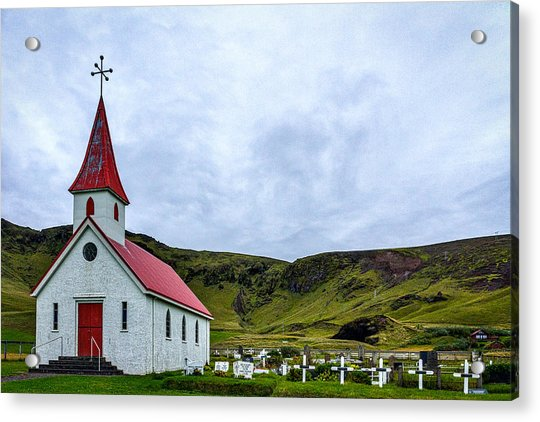 Vik Church And Cemetery - Iceland Acrylic Print