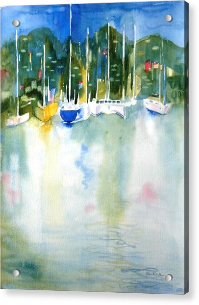 Village Cay Reflections Acrylic Print