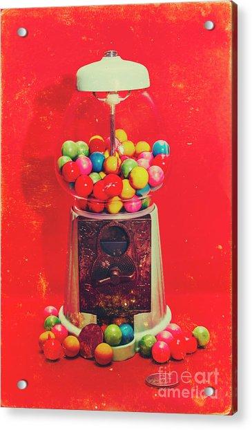 Vintage Candy Store Gum Ball Machine Acrylic Print