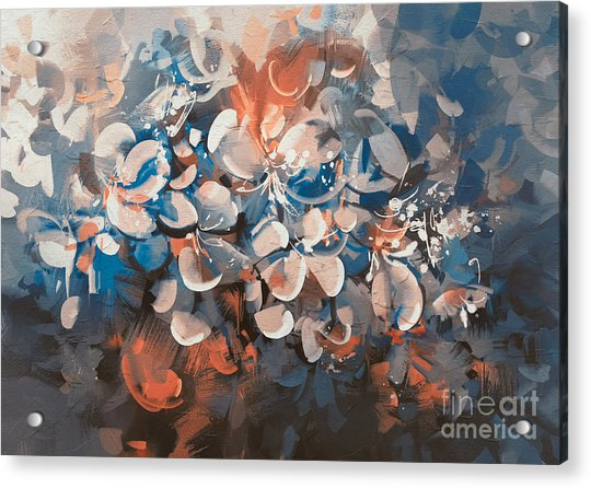 Acrylic Print featuring the painting Vintage Petal by Tithi Luadthong