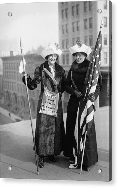 Vintage Photo Suffragettes Acrylic Print