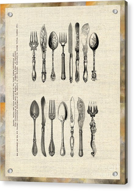 Vintage Silverware Acrylic Print
