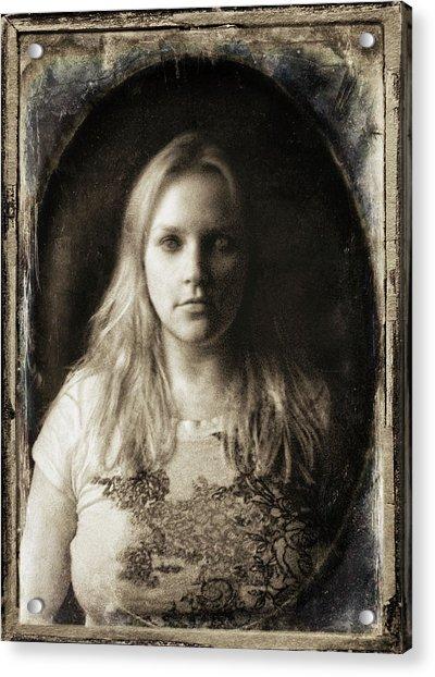 Vintage Tintype Ir Self-portrait Acrylic Print