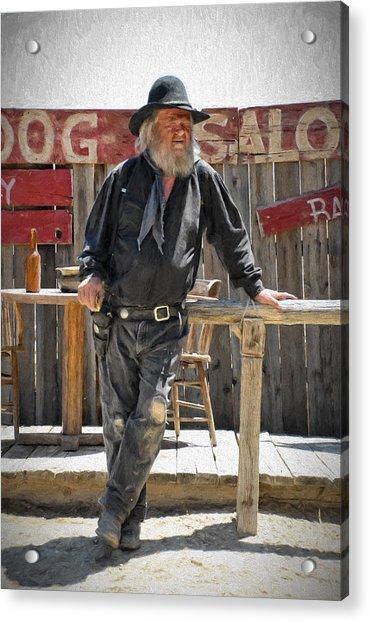 Virginia City Cowboy Acrylic Print