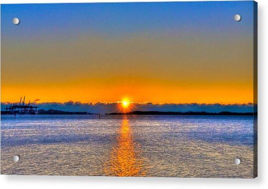 Virginia Key Sunrise Acrylic Print by William Wetmore