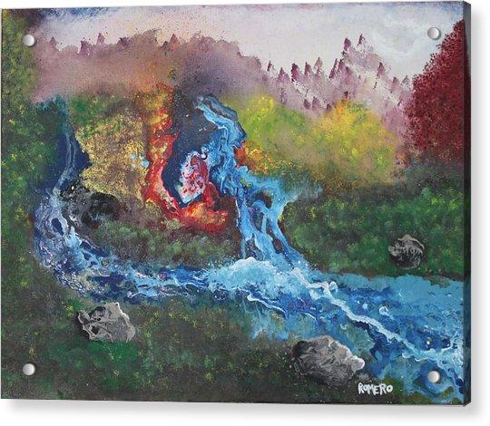 Volcano Delta Acrylic Print