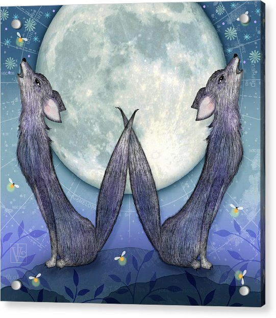 W Is For Wolves Acrylic Print