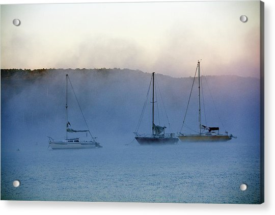 Waiting In The Fog Acrylic Print