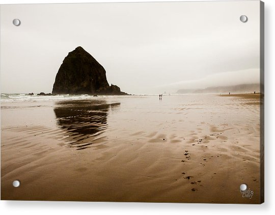 Walking The Wet Sand Acrylic Print