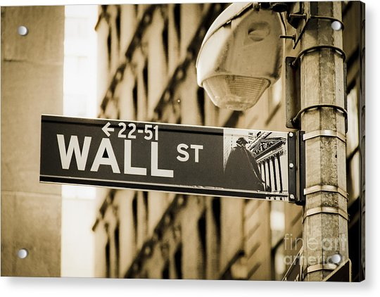 Acrylic Print featuring the photograph Wall Street by Juergen Held