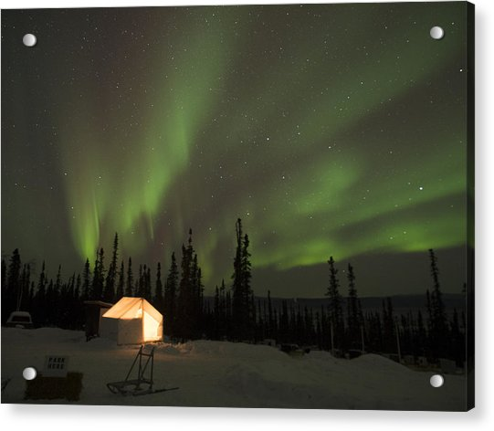 Wall Tents And Aurora Acrylic Print
