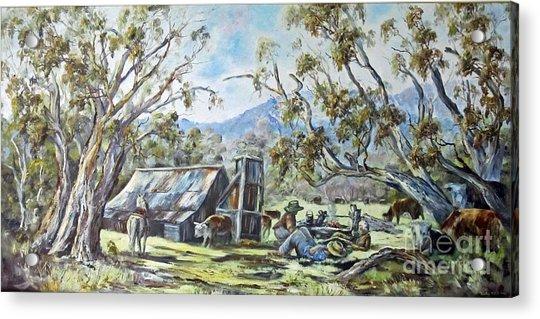Wallace Hut, Australia's Alpine National Park. Acrylic Print