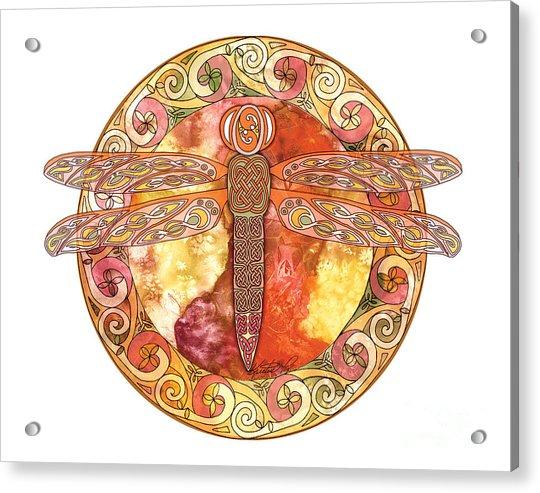Warm Celtic Dragonfly Acrylic Print