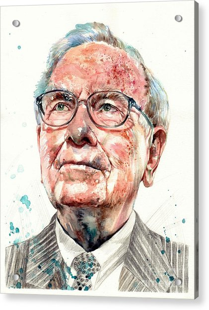Warren Buffett Portrait Acrylic Print