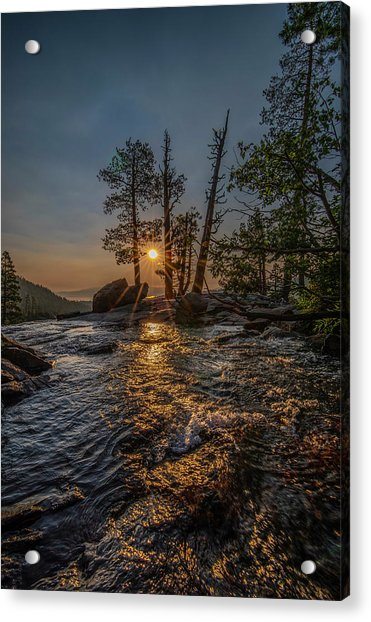 Washed With Golden Rays Acrylic Print