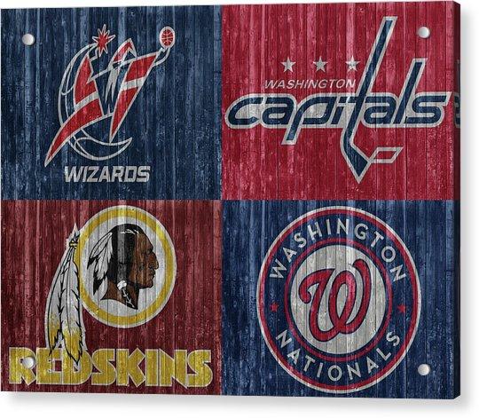 Washington Dc Sports Teams Acrylic Print