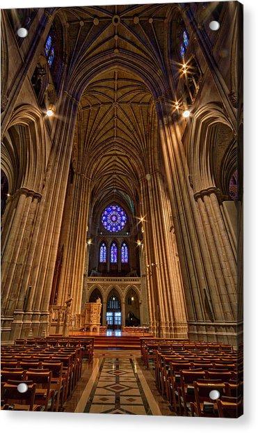 Washington National Cathedral Crossing Acrylic Print