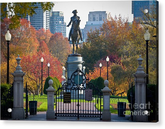 Washington Statue In Autumn Acrylic Print