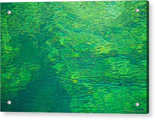 Water Green Acrylic Print