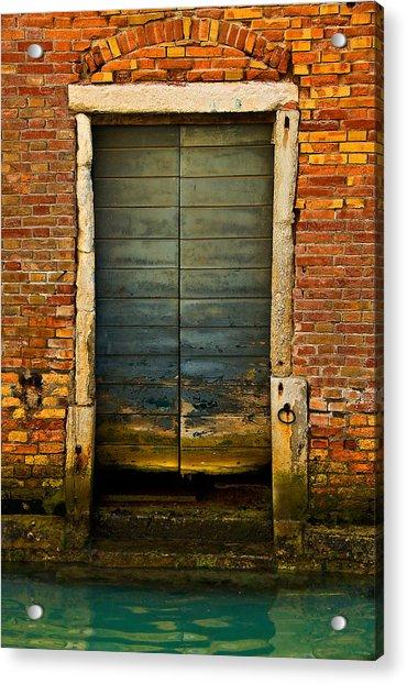 Water-logged Door Acrylic Print