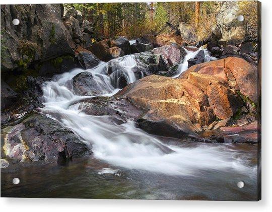 Waterfall In Lee Vining Canyon 2 Acrylic Print