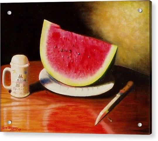 Watermelon Time Acrylic Print