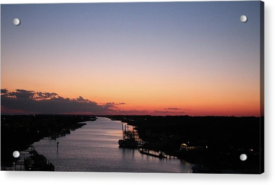 Acrylic Print featuring the photograph Waterway Sunset #1 by Cynthia Guinn