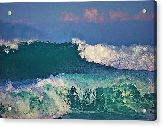 Waves And Clouds Acrylic Print