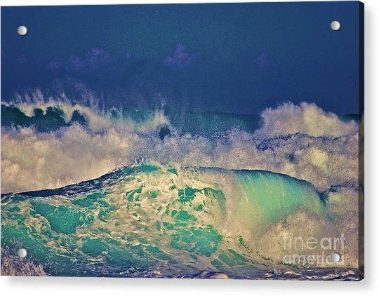 Waves Breaking Acrylic Print