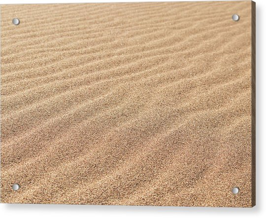 Waves In The Sand Acrylic Print