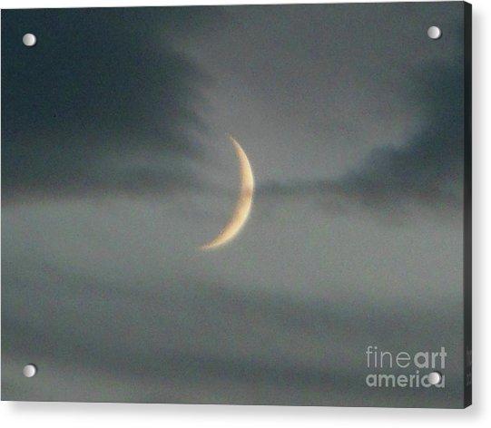 Waxing Crescent Moon Acrylic Print